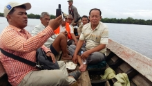 Community Fisheries Committee on patrol inside CFi domain Champou Khmao committee 2016