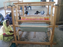 Reed-based handicrafts production by fisher ladies