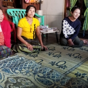 Kyi Htay (right); her aunt, Mi San (left); and Than Than Yu (centre) share their feedback and future plans for the VECC
