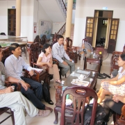 Consultation with Xuan Thuy National Park on the project