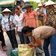 Training on how to treat the raw materials for souvenir production