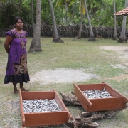 Annet Pathmavathy with dried fish