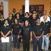 MFF all the way! IUCN Sri Lanka staff at the exhibiton featuring marine wonders of Sri Lanka co-hosted by MFF