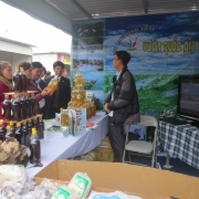 Brand-name product booth in Xuan Thuy National Park