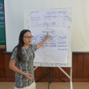 Presentating the results of a group discussion on Climate Change Impacts and Adaptation