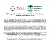 Page from IUCN Mangrove Specialist Group Statement at WPC