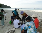 3rd ICM Course participants study coastal issues on field