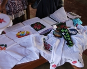 Fabric paintings and handicrafts produced by fisher women in Naguleliya