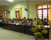 Women participate in the consultation on the pilot policy