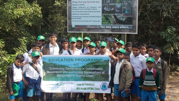 Eco-club students participate in the mangroves awareness camps